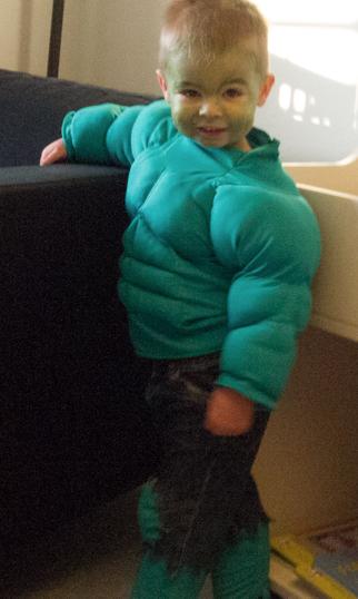 Hulk børnedragt diy