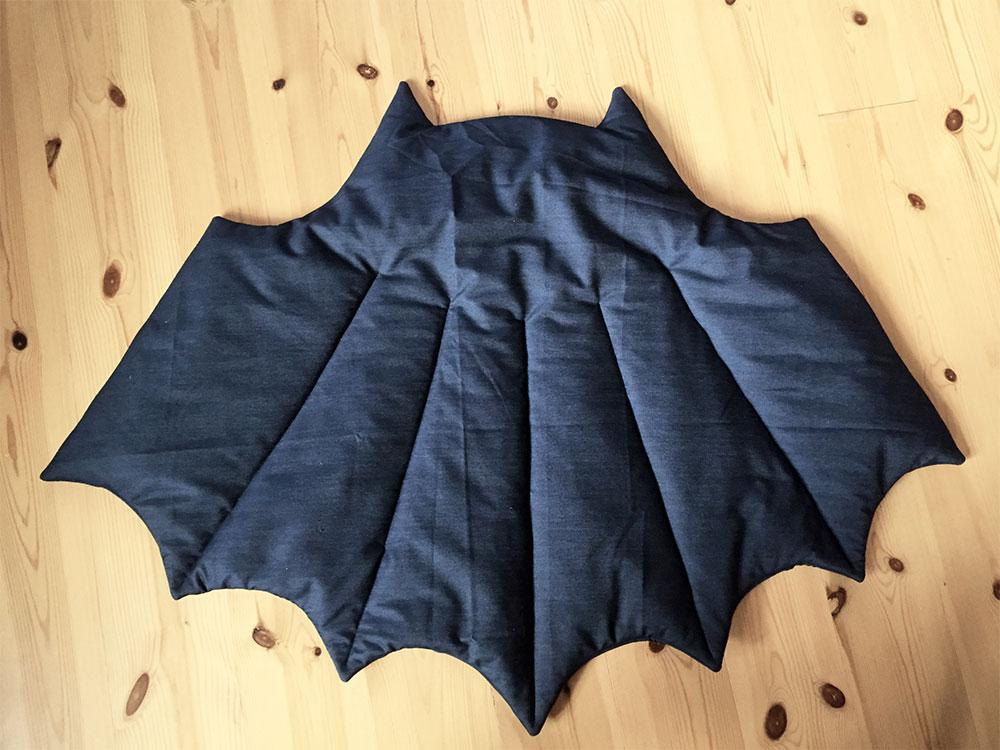 vatteret babytæppe batman