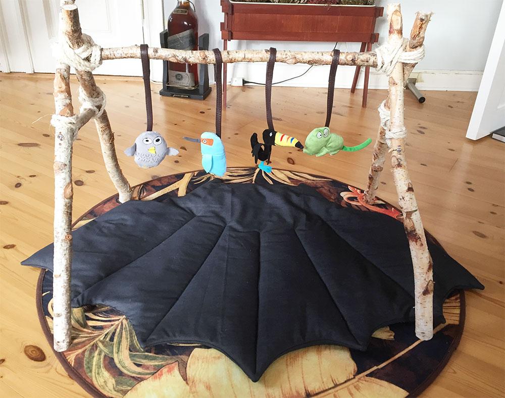 vatteret gulv babytæppe